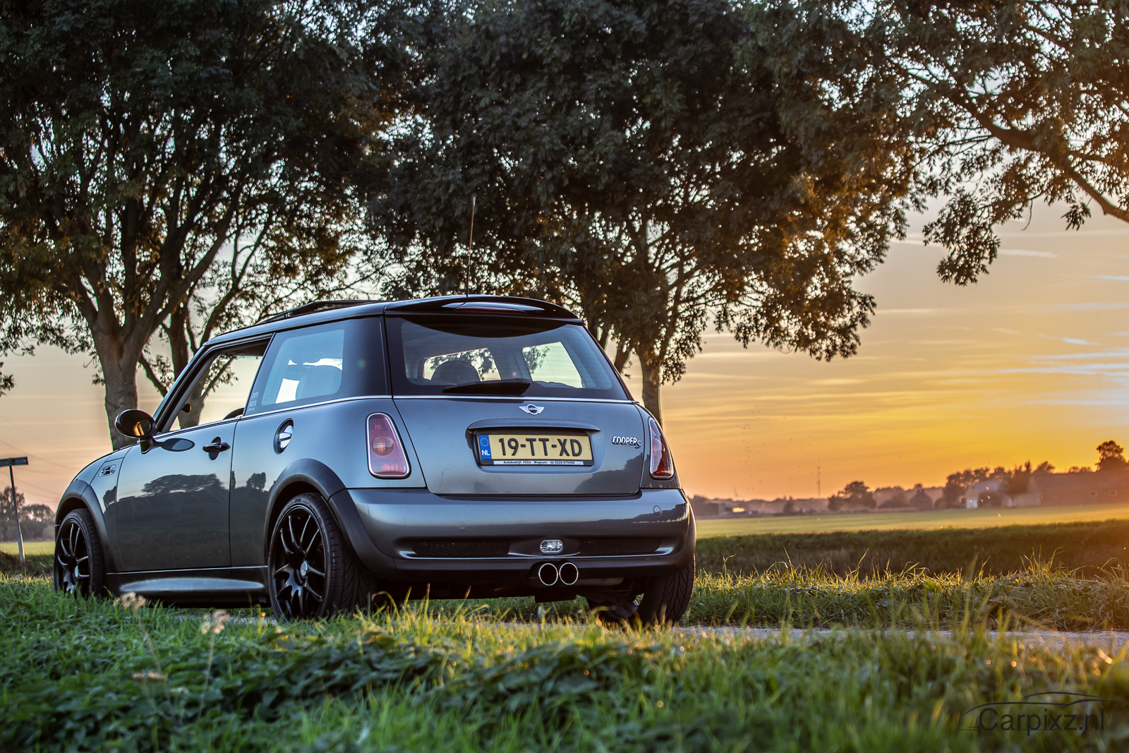 mini cooper s compressor sunset carpixs automotive car photography