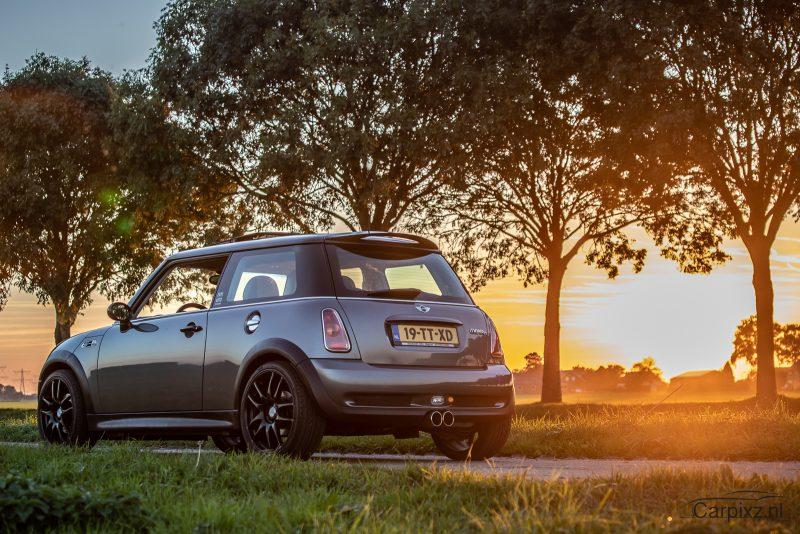 mini cooper s compressor sunset carpixs automotive car photography